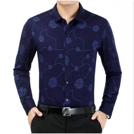 2016秋季新款男士衬衣长袖 男式衬衫开衫商务修身男装