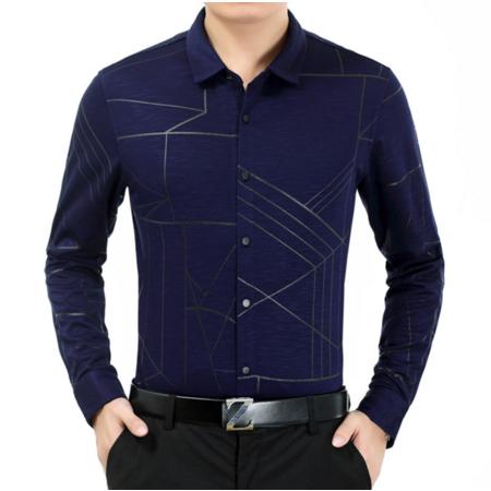 2016秋季新品男士衬衫长袖男式衬衣修身商务男轻奢男装