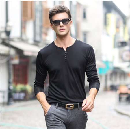 2016秋季新款男式t恤男士长袖T恤品牌男装套头青年