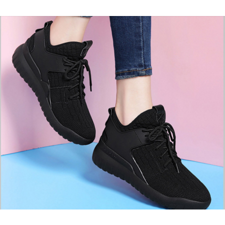 女鞋秋鞋2016新款运动鞋女韩版潮真皮休闲跑步鞋百搭红鞋