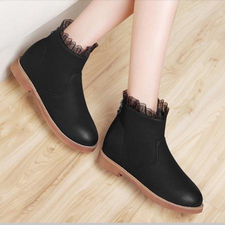 2016女靴秋季新款马丁靴女英伦风学生短靴马丁鞋女裸靴子