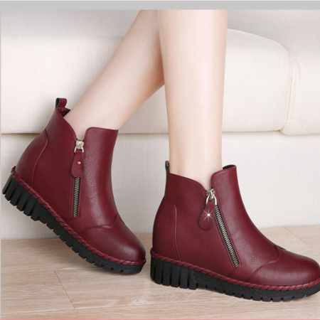 短2016靴女秋冬季新款内增高女鞋平底马丁靴英伦学院风女靴子休闲单靴