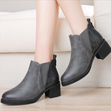 2016女鞋秋冬季新款马丁靴女中跟厚底潮女短靴英伦风时尚高跟短筒女靴