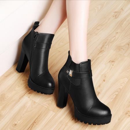 马丁靴2016新款短靴女英伦风秋季女鞋潮秋单靴粗跟高跟鞋女靴子