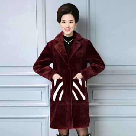 2016冬款新款中老年女装大码宽松呢子外套妈妈装加绒毛呢外套