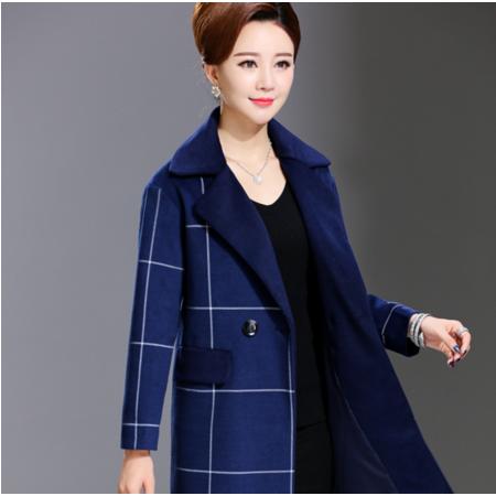 2016新款秋冬款韩版毛呢外套40-60岁气质开衫两粒扣妈妈装薄款呢大衣