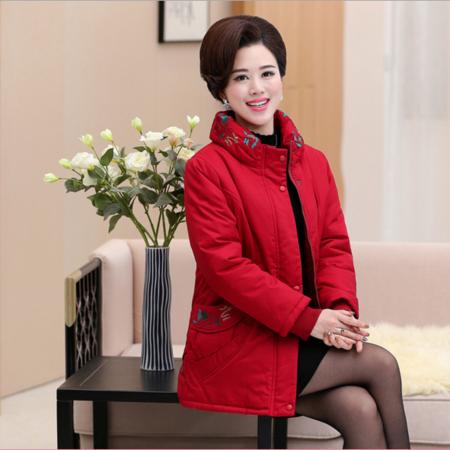 2016新款冬装中老年棉衣批发 妈妈装女士中长款棉衣