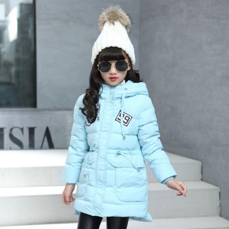 童装女童棉衣新款2016儿童冬装加厚棉服韩版胸标数字冬款外套