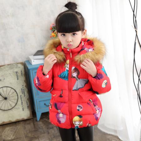 2016冬款童装 韩版女童冬装棉衣 女宝宝加厚棉袄小童卡通外套