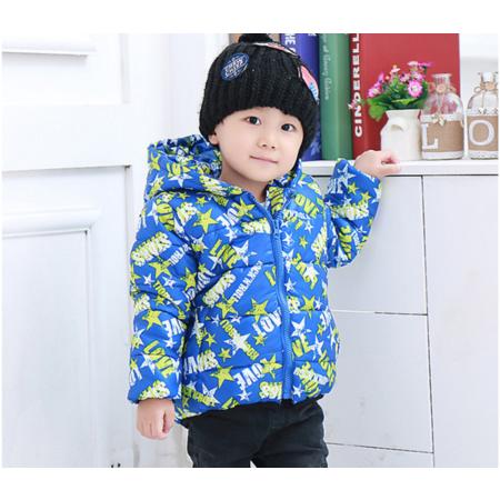 2016新款男童女童五角星韩版棉衣 小童新款冬装棉袄