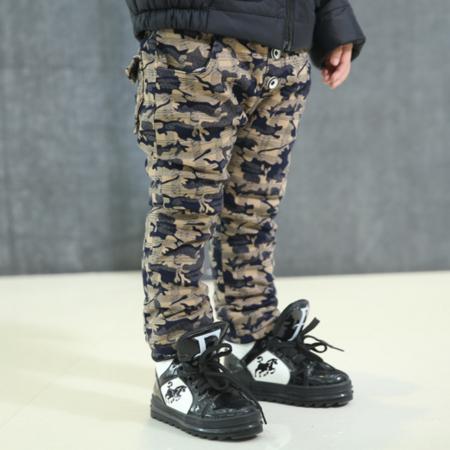 男童时尚棉裤 2016冬季韩版新款童装 中大儿童潮范乱纹迷彩棉裤