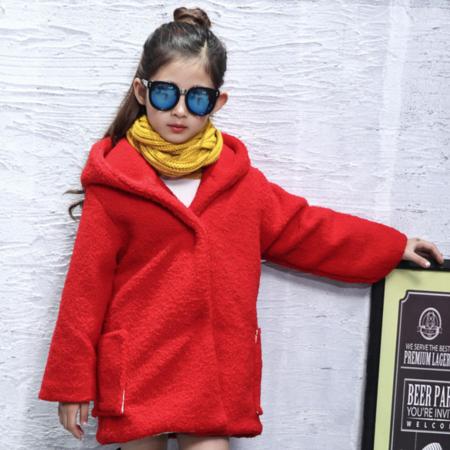 2016冬款童装儿童羊羔绒外套中大童女童加厚外套韩版