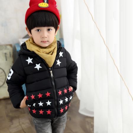 2016儿童棉衣外套 婴儿棉袄男童装冬季儿童加厚星星棉衣冬