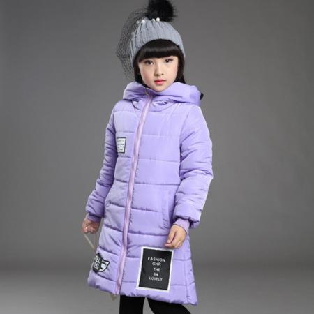 童装2016女童韩版冬款棉袄新款连帽棉衣中长款加厚中大童外套