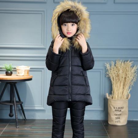 童装2016新款女童冬装中大童加厚棉服保暖秋冬套装韩版儿童三件套