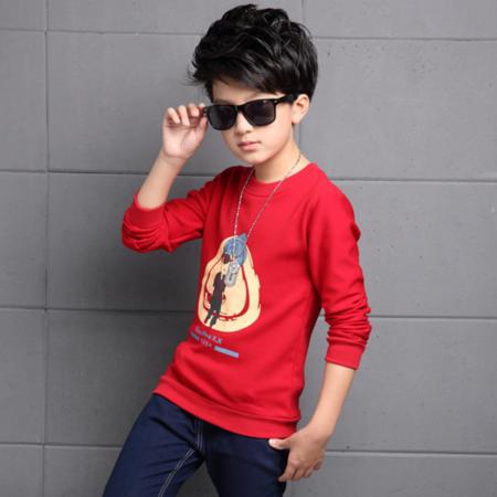 童装2016冬款男童T恤时尚韩版卡通打底衫加绒冬季男童打底衫