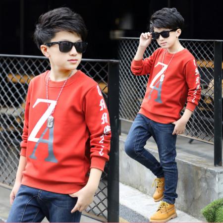 童装2016冬款男童T恤时尚韩版打底衫加绒冬季男童打底衫