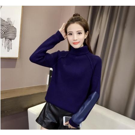 2016秋冬新款女装韩版半高领毛衣女加厚长袖针织衫显瘦套头打底衫