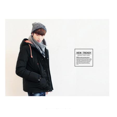2016冬装新款男装羽绒服外套 韩版连帽加厚羽绒服男