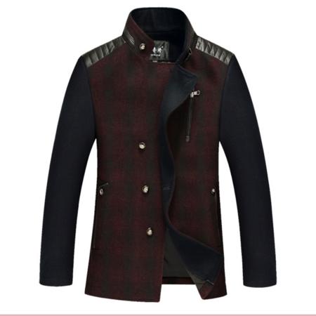 2016冬新款时尚男式毛呢大衣 男 羊毛呢子风衣大衣中长款外套