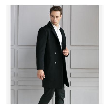 2016冬季新款时尚毛呢大衣男 中长款青年毛呢外套 羊毛大衣