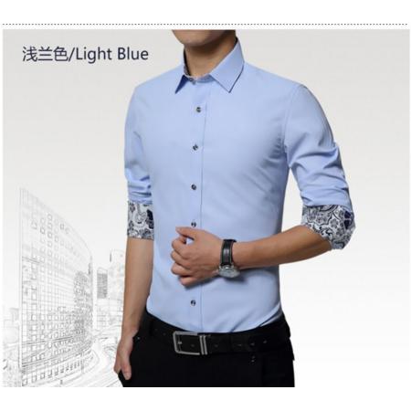 2016秋冬新款潮流衬衫男 韩版修身男式衬衫 免烫休闲男士长袖衬衫