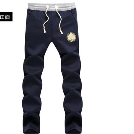 2016秋冬新款潮流男式休闲裤 韩版直筒修身卫裤男 弹力男士运动裤