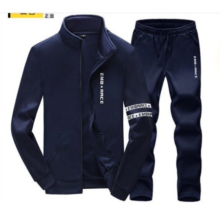 2016秋冬季新款韩版修身男式长袖套装 时尚潮流男士休闲运动套装