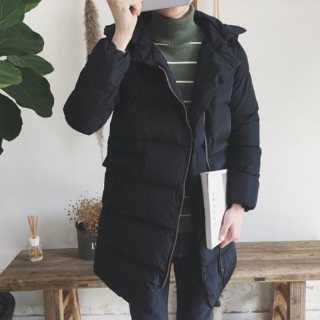 2016冬季中长款斜拉链棉衣男士加厚保暖连帽棉袄韩版休闲宽松棉服风衣