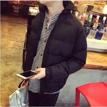 2016冬季青少年加厚棉袄男士休闲男装棉服宽松连帽保暖棉衣学生外套潮
