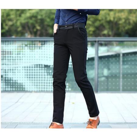 2016秋季商务休闲裤男士修身西裤英伦小脚长裤子免烫弹力直筒青年男裤