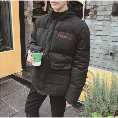 2016冬季韩版休闲连帽棉袄男士加厚保暖面包服情侣装青年学生棉衣外套