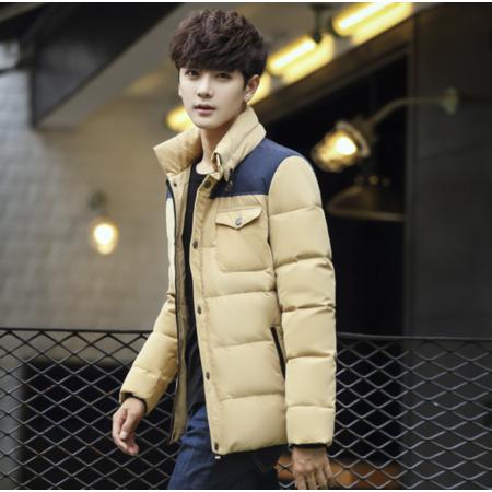 2016冬季青年男装羽绒服男士立领加厚保暖轻薄款韩版休闲潮流学生外套