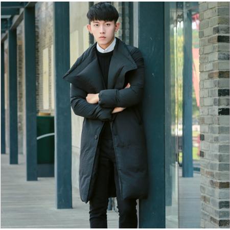 2016冬季情侣装羽绒服男士加厚保暖中长款过膝休闲大衣韩版青年外套潮