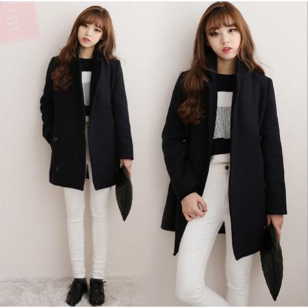 2016冬季新款韩版短款外套毛呢外套学生学院风加厚短款呢子外套女