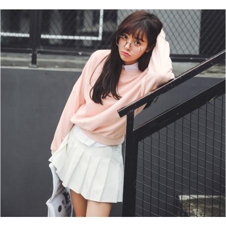 2016秋冬新款韩版宽松长袖加绒套头抓绒刺绣卫衣女