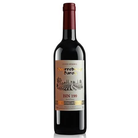 法国原瓶进口 南爵窖藏199干红葡萄酒 窖藏级红酒750ml
