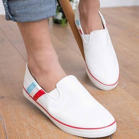 Mr.benyou2014新款新款休闲鞋可穿可拖懒人鞋清爽风格青春款帆布鞋白色H115-622