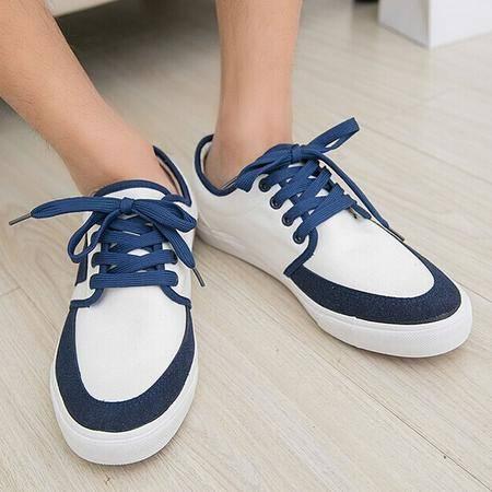 Mr.benyou2014新款新款休闲鞋清爽风格青春款牛筋帆布鞋白色H115-623