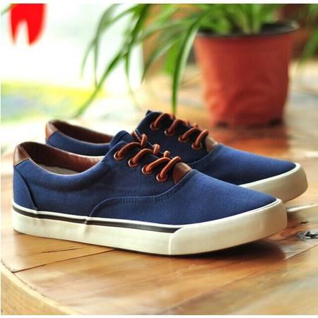 Mr.benyou 正品原单推透气平跟流行休闲鞋帆布鞋男韩版单鞋系带H408-E122