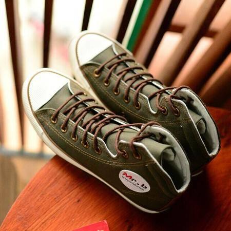 Mr.benyou 正品纯色经典2014韩版流行男鞋潮人大LOG设计原单品质帆布鞋H408-D143