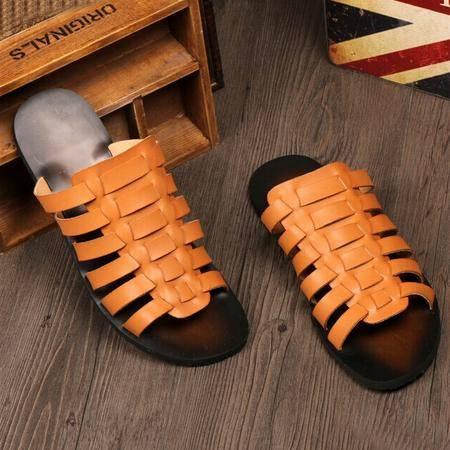 Mr.benyou 正品夏季凉拖韩版套脚防滑男士沙滩凉拖鞋罗马潮鞋H209-T10