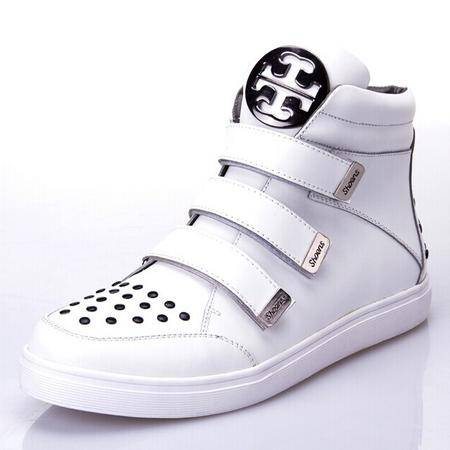 Mr.benyou 正品高帮冬季街头男士朋克金属系带板鞋高帮男鞋H209-9180