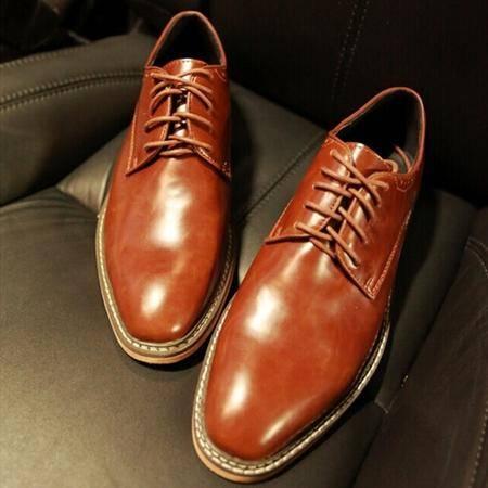 Mr.benyou正品 高端百搭休闲鞋2014英伦商务复古男士日常系带圆头皮鞋H508-X7099