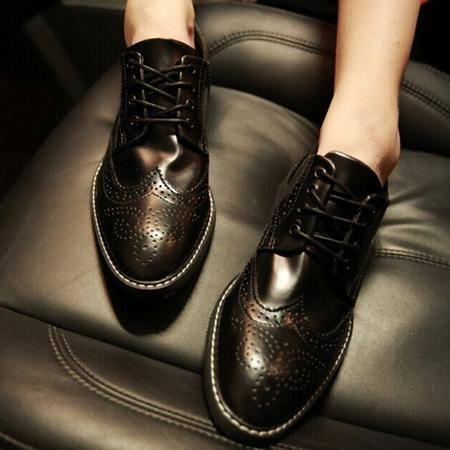 Mr.benyou 2014正品 潮流青年男士休闲鞋新款雕花布洛克鞋镂空坡跟男鞋H508-X949