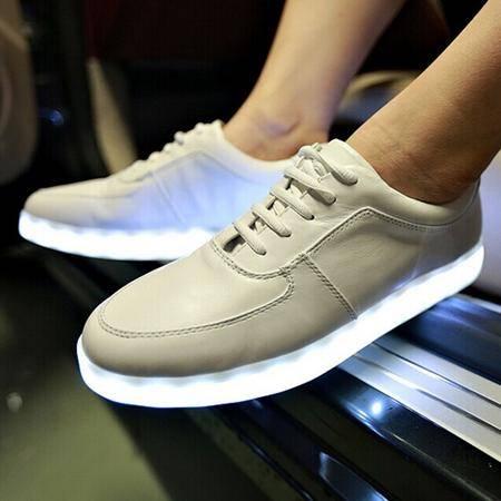 Mr.benyou2014夜光鞋USB充电灯光鞋LED潮鞋头层皮潮流板鞋H508-X8088
