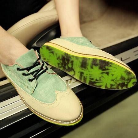 Mr.benyou 2014正品新款水晶鞋底休闲鞋潮流撞色荧光拼色时尚男士低帮鞋H508-XF06