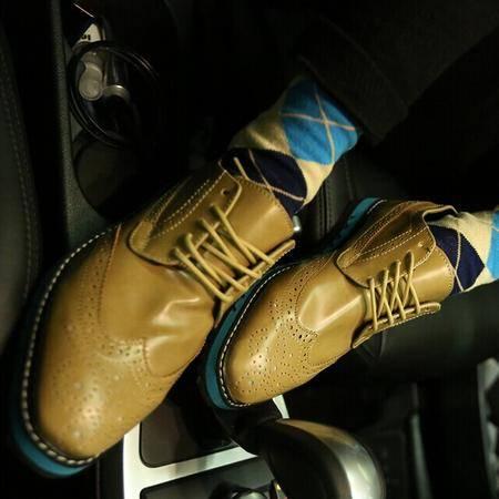 Mr.benyou 2014正品新款时尚青年增高布洛克雕花新款英伦皮鞋男鞋潮H508-XW55