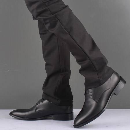 Mr.benyou 2014正品欧维商务正装皮鞋尚潮流尖头皮鞋Q1011-736-3