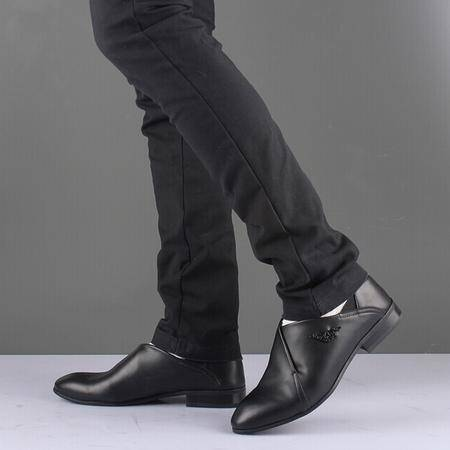 Mr.benyou2014正品新款时尚钱塘韩版坡跟英伦时尚尖头皮鞋Q1011-8105-5